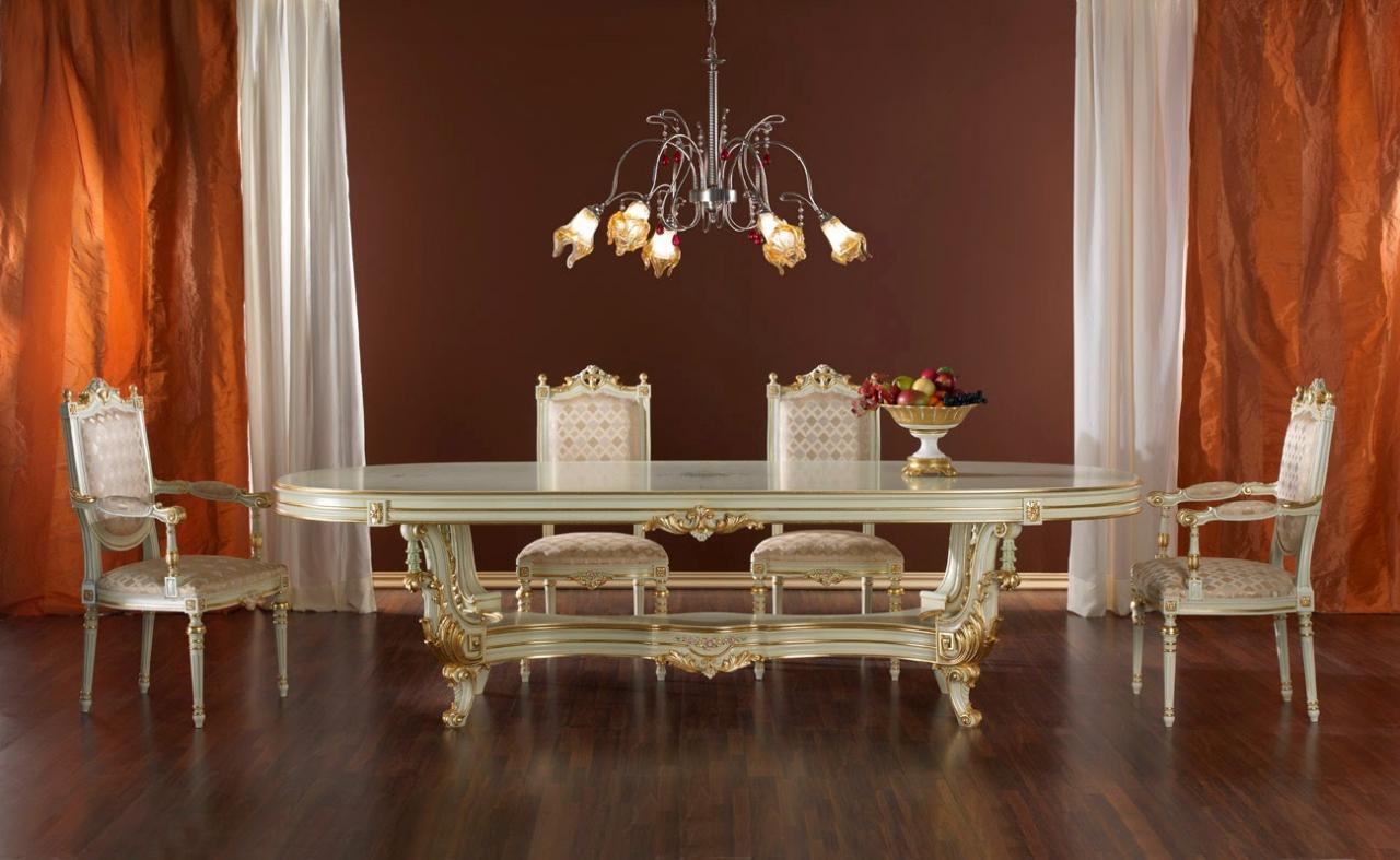 صورة غرفة طعام كلاسيك , تصميم غرف طعام بديكور كلاسيكي