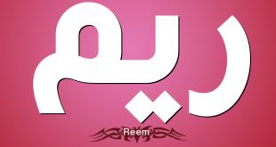 ما معنى ريم , اسم ريم اصله وما يعنيه