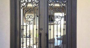 صورة ابواب منازل خارجية من الحديد , بوايه منزلك تعكس ذوقك