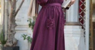 صور اشيك فساتين محجبات , اروع تشكيله لفساتين المحجبات