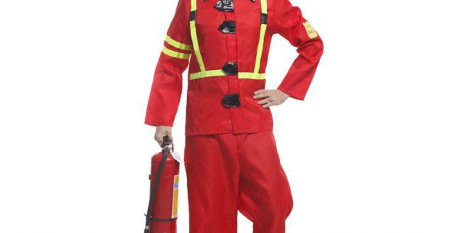 صورة لبس رجل الاطفاء , بدلة مقاومة الحريق