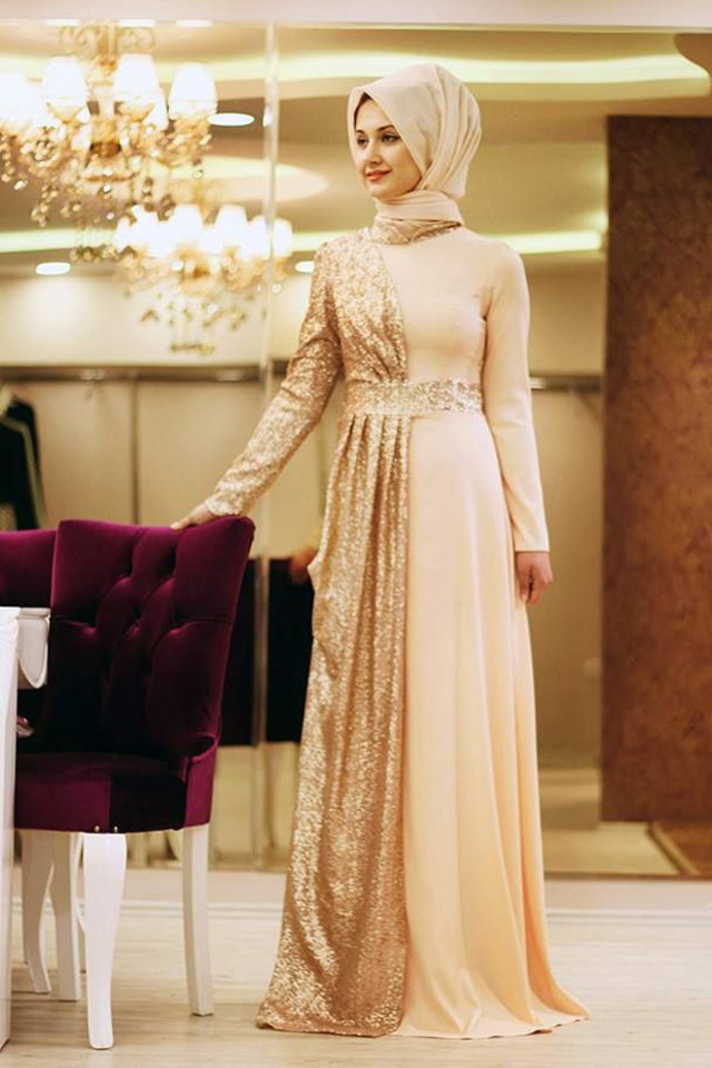صورة فساتين لاخت العروسة , اروع تشكيله فساتين سواريه