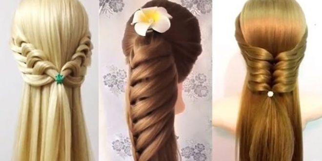 صور طريقة تسريح الشعر الطويل , كيفيه عمل تسريحات للشعر بكل سهوله