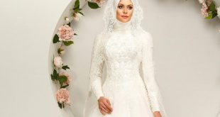 صور فساتين زفاف محجبات , الحجاب زينة العروسة