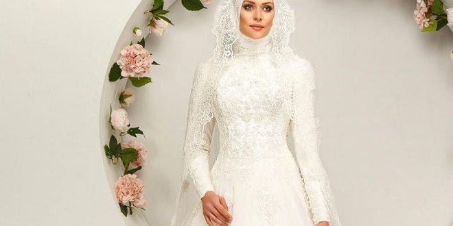 صورة فساتين زفاف محجبات , الحجاب زينة العروسة