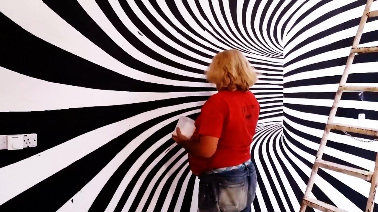 رسم ثلاثي الابعاد على الجدران رسومات ثرى دى تخطف الانظار حلوه خيال