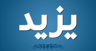 صورة معنى اسم يزيد , من يحملون اسم يزيد وصفاتهم