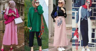 صورة ملابس للمراهقات المحجبات 2019 , أجمل صيحات الموضة الجديدة للبنات